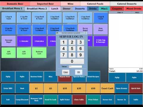 BPA Restaurant Professional POS Demo - Logging In