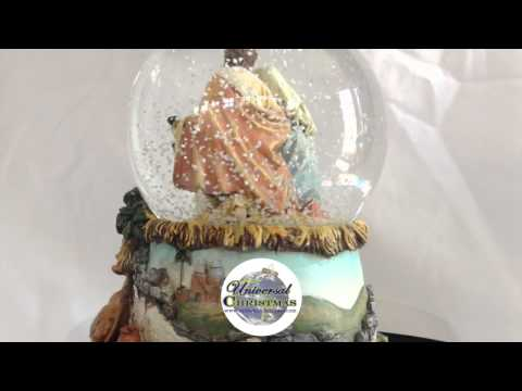 Holy Family Religious Nativity Musical Christmas Water Globe 4""