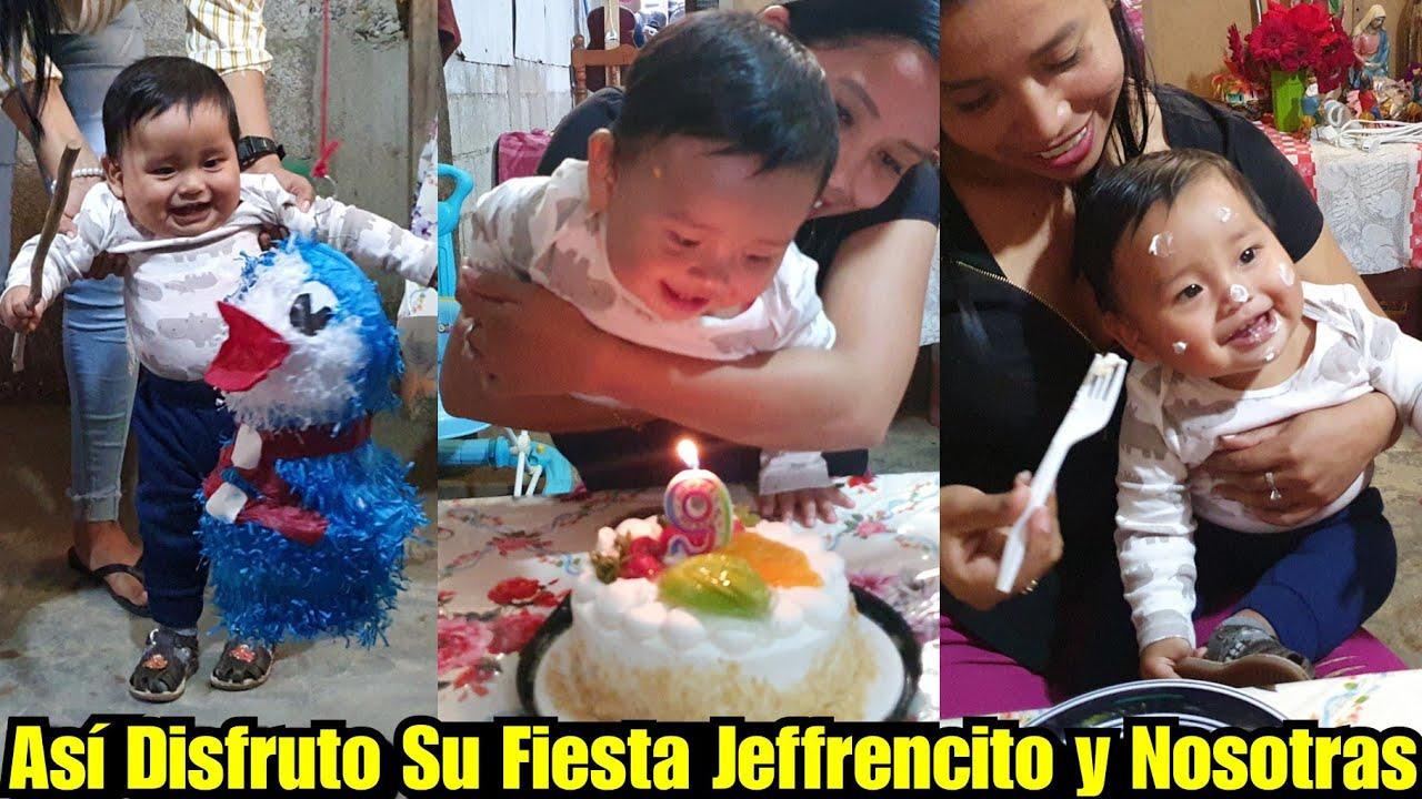 Jeffrencito Muy Feliz Quebro Su Piñata y Disfruto Su Pastelito🎂😊