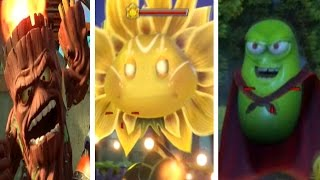 plants vs zombies garden warfare 2 all final bosses part 1