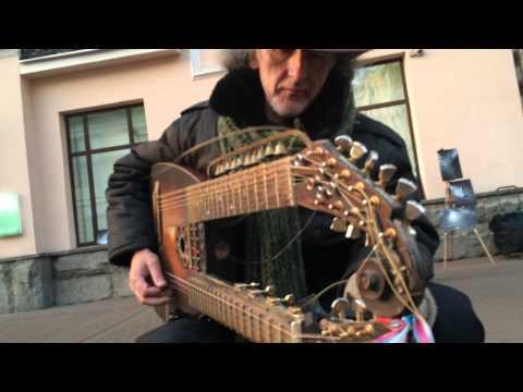 Russia Moskow Arbat Street Musician
