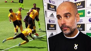 Pep Guardiola responds to Wolves 'handball' goal!