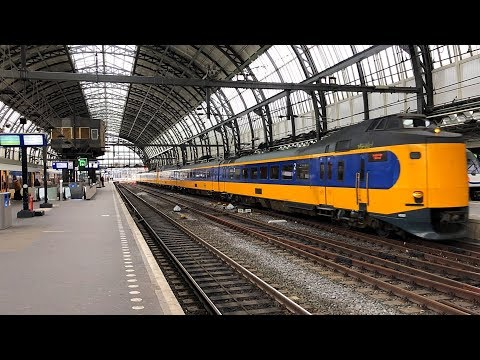 Train Ride From Amsterdam Centraal To Rotterdam Centraal Station
