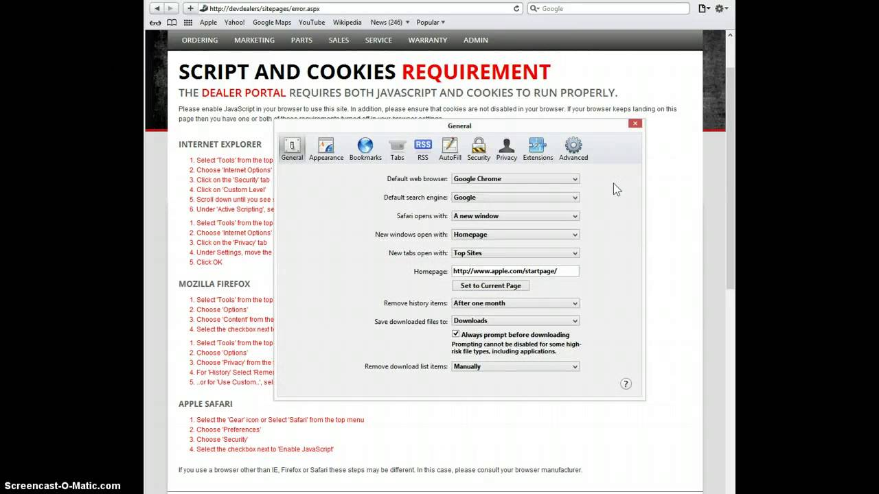 Enable Cookies Safari Disable Java Script In Mozilla Firefox Browser