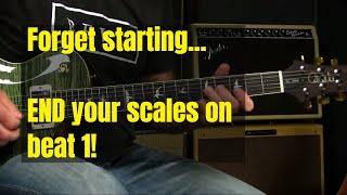 Blues Guitar Lesson   Practicing Your Scales To END On Beat 1
