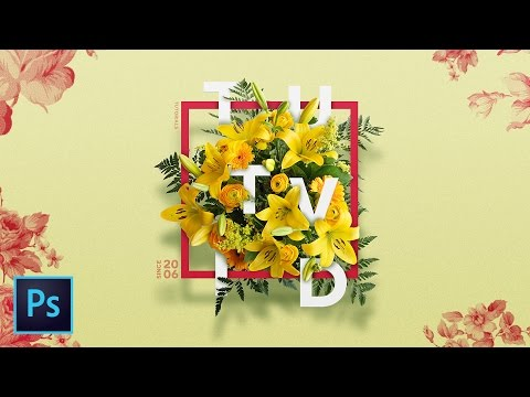 Create a Floral Typography Text Effect in Photoshop CC