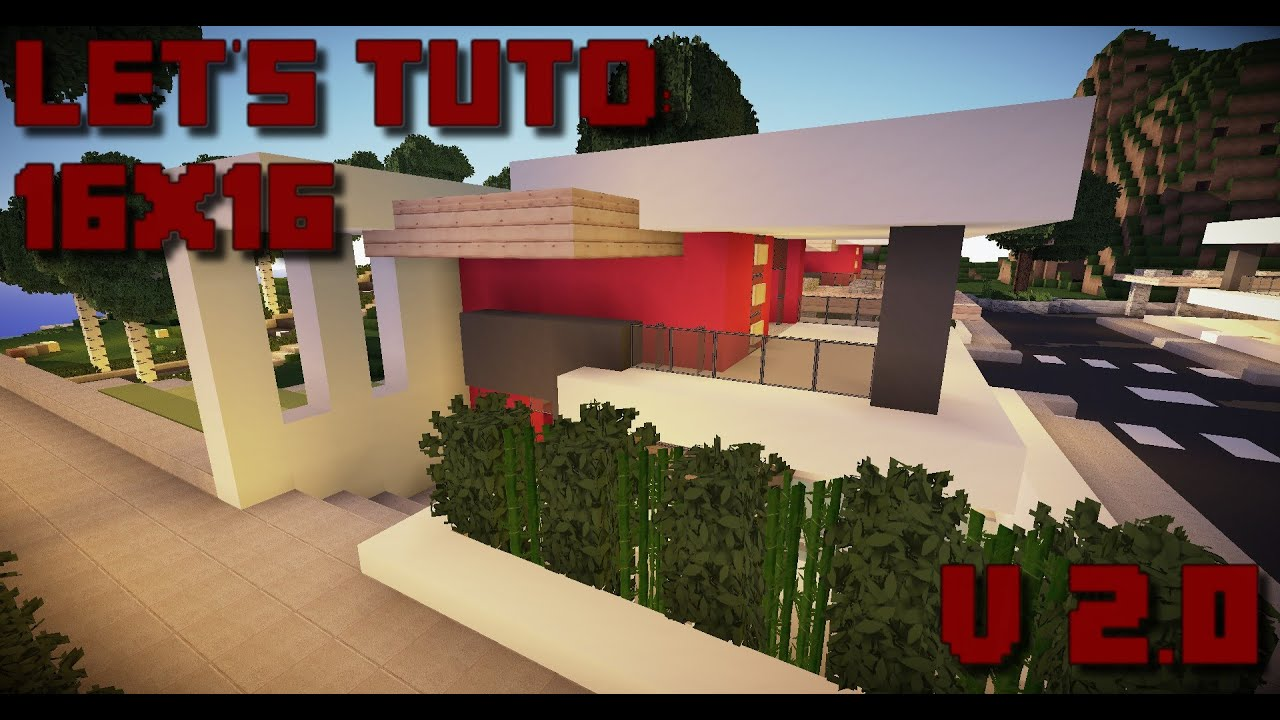 Minecraft Lets Tuto 16x16 V20 Ultra Modern House Download