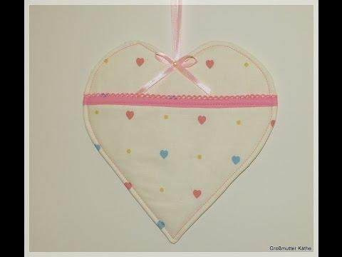 Käthes Nähstunde DIY Taschenherz Valentinstag / Muttertag Nähen Für Anfänger