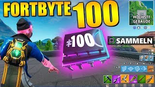 Fortnite Fortbyte 100 🏢  Highest Floor Neo Tilted | All Fortbyte Locations Season 9 German
