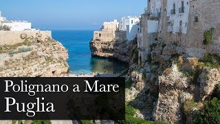 Polignano a mare is postcard town settled on puglia's adriatic coast. its old clusters clifftop, with the newer part of unfolding behind. th...