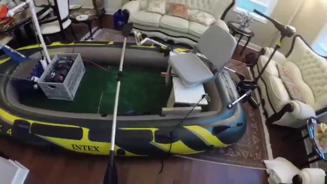 Intex Seahawk 4 | fishing boat modifications - YouTube