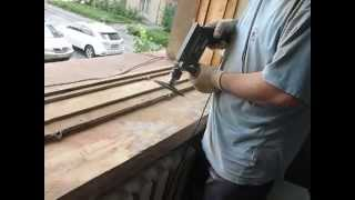 Ремонт деревянного окна своими руками, шлифовка рам