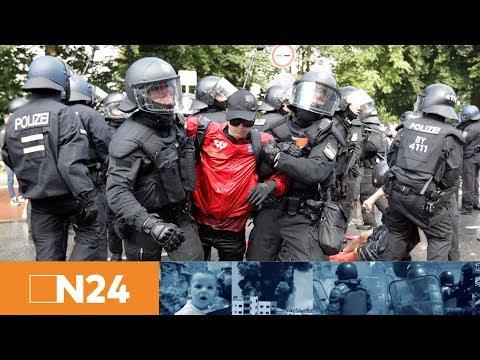 N24 Nachrichten - G20 in Hamburg: Demonstration zur Elbphilharmonie gestoppt