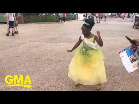 Damon & Cory - 8 year old princess takes Disney by storm