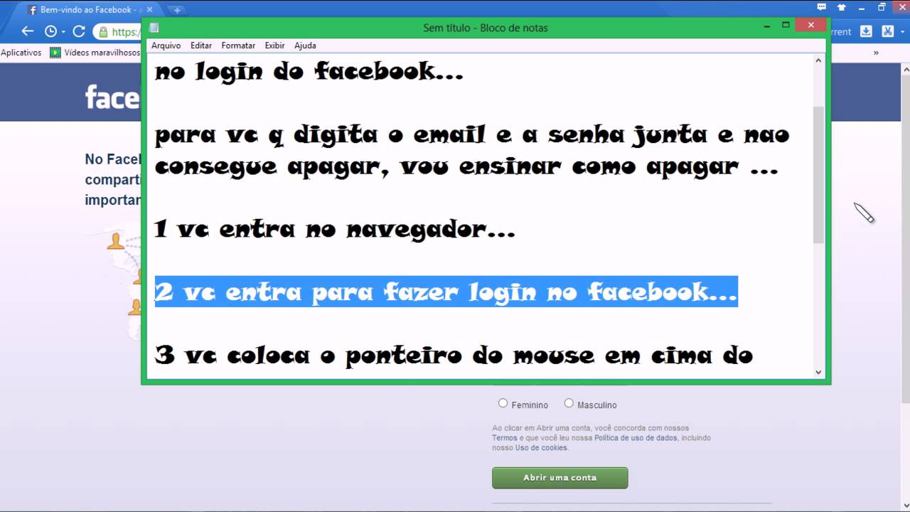 Como Apagar Fotos Do Face: Como Apagar O Email Salvo No Login Do Facebook
