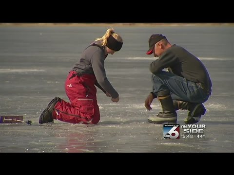 Father-daughter sets record while ice fishing