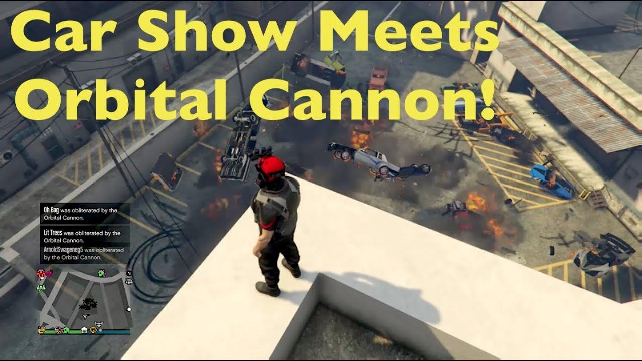 19 Kills With One Orbital Cannon Strike Gta 5 Youtube