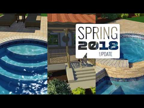 Spring 2018 Update - Rolled Beams, FBX Import and Augmented Reality - Vip3D, Pool Studio, & VizTerra
