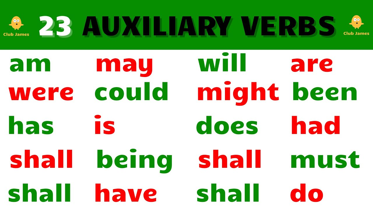 23 Auxiliary Verbs in English - YouTube