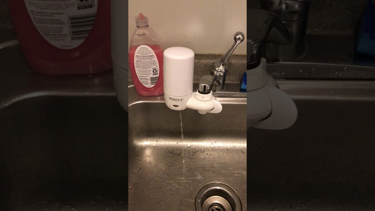 Slow Brita faucet filter - YouTube