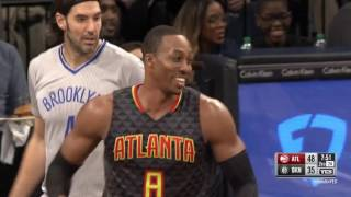 Dwight Howard DAB's on Jeremy Lin [FUNNY] | Nets vs Hawks (01/10/2017)