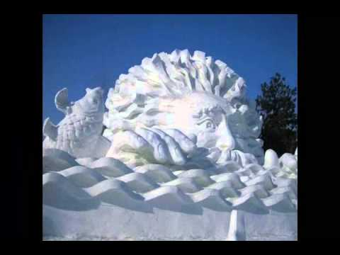 sculpture de neige et glace au carnaval de quebec 2012 youtube. Black Bedroom Furniture Sets. Home Design Ideas