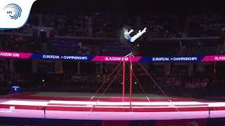 Iurii BUSSE (RUS) - 2018 Artistic Gymnastics Europeans, junior high bar final