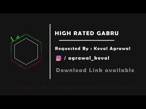 High Rated Gabru - Ringtone | Requested Ringtone | Album Song | Aero Music