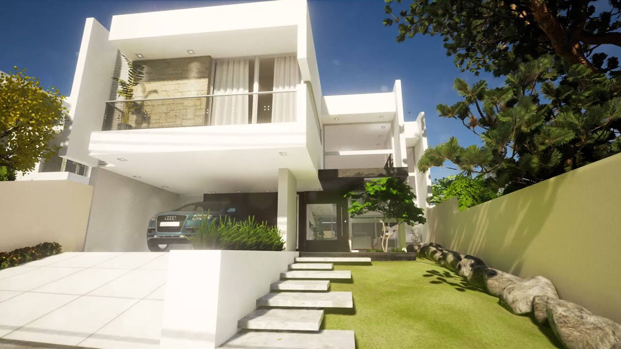modern house, exterior and interior. - youtube