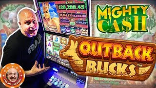 🤑24 FREE GAMES RE-TRIGGER 🤑MIGHTY WIN$ on Mighty Cash Outback Bucks!