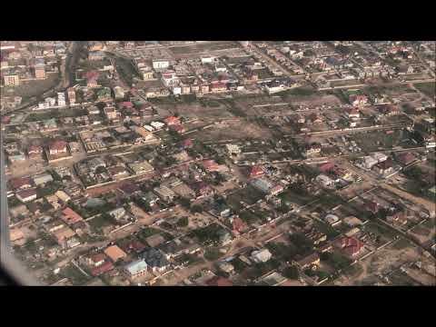 Landing in Ghana - Accra -  2019   Nice Landscape!! ガーナ アクラ