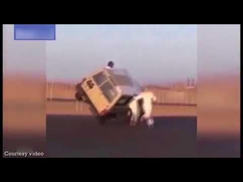 The dangerous stunts of Saudi youth  Daily Jang   Latest دلچسپ و عجیب News   Jang com pk