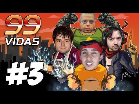99 Vidas O Jogo - Coop Parte #3 - GAMER OVER NA MINHA CARA!!  - ft Guioss, Negão e Bônus