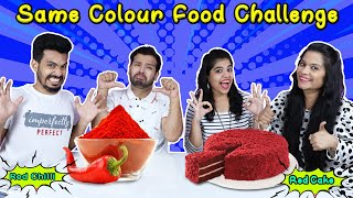 Food Of Same Color Challenge  |  Funny Challenge Video | Hungry Birds