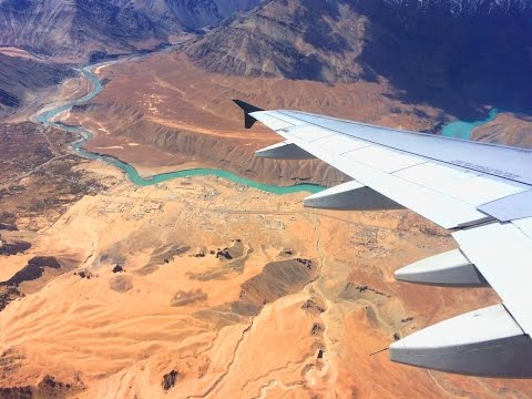 Goair A320-200  take off at Leh airport (IXL) in Ladakh India [HD]