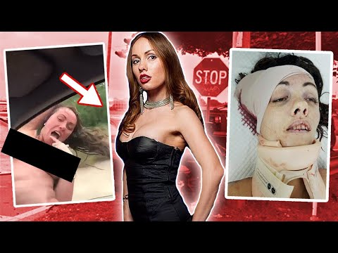 *GRAPHIC* Topless Woman Kills Herself By Hitting Street Sign \u0026 Films Her Own Death