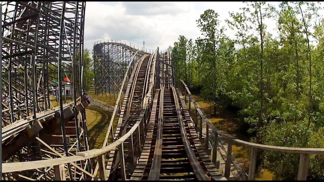 Silver Comet Wooden Roller Coaster Pov Martins Fantasy