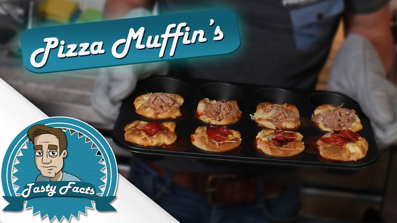 pizza muffins einfach schnell und tasty tastyfacts youtube. Black Bedroom Furniture Sets. Home Design Ideas