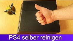 PS4: Lüfter Kühler und Festplatte reinigen / entstauben