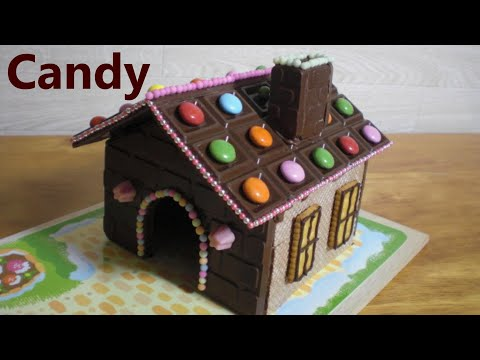 Meiji 3 - DIY Chocolate House Kit 🍫 Sweets Decoration