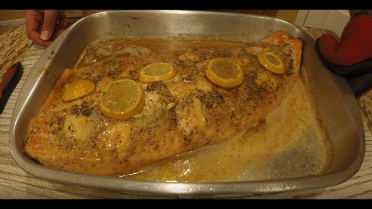 How To Cook Oven Baked Salmon Fillets Youtube