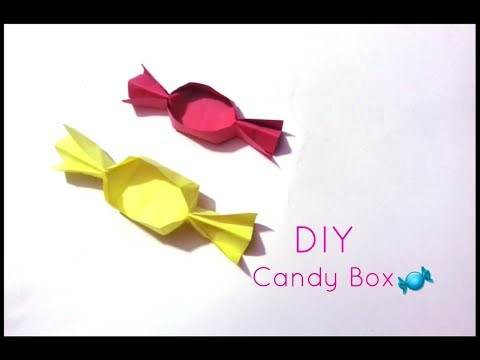 DIY How to make Paper Candy Box at home-Paper Craft-Queen of DIY Crafts