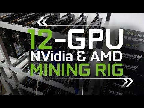 12-GPU, GTX 1070Ti & AMD Mining Rig Build