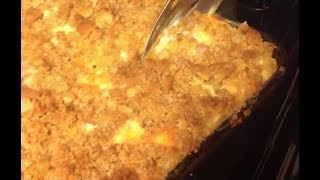 Southern Style 3 Cheese Macaroni And Cheese W/Breadcrumbs
