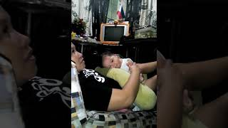 Funny Baby Eating.