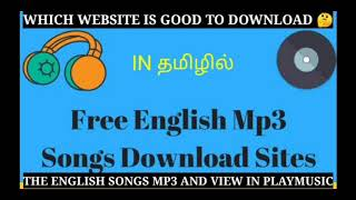 How to download the English song mp3 in tamil |free English mp3 songs download sites | mp3 song