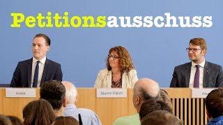 Bürger-BPK mit Mitgliedern des Petitionsausschusses im Bundestag