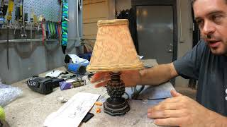 Installing a touch sensor in a lamp