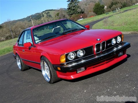 1987 bmw m6 for sale in zinnoberrot w lotusweiss nappa leather youtube. Black Bedroom Furniture Sets. Home Design Ideas