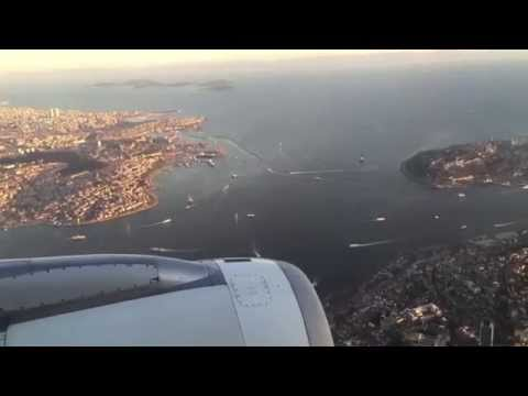 The Most Beautiful City: Istanbul 2015 - Turkish Airlines landing at Istanbul Atatürk Airport (HD)
